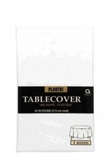 Frosty White Tablecover Plastic Round