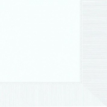 Frosty White Lunch Napkins (50)