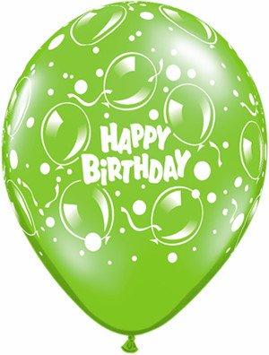 """11"""" Printed Birthday Fantasy Sparkle Balloons Balloon 1 Dozen Flat"""