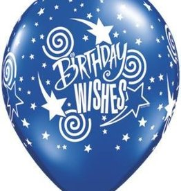 "11"" Printed Birthday Fantasy Wishes Balloon 1 Dozen Flat"