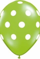 "5"" Balloon Tropical Big Polka Dots 1 Dozen Flat"