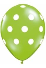 "5"" Balloon Tropical Big Polka Dots 1 Dozen Flat"