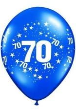 "11"" Printed #70 Around Jewel Tone Balloon 1 Dozen Flat"