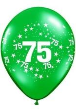 "11"" Printed #75 Around Balloon 1 Dozen Flat"