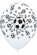 "11"" White Soccer Balls Balloon Uninflated"