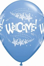 "11"" Printed Welcome Stars Balloon 1 Dozen Flat"