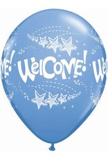 """11"""" Welcome Stars Balloon Uninflated"""