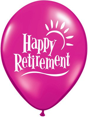 "11"" Printed Jewel Retirement Sun Balloon 1 Dozen Flat"