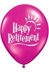 "11"" Printed Jewel Retirement Sun Balloon 1 Dozen Flat"