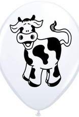 "11"" Printed Special Farm Animals Balloon 1 Dozen Flat"