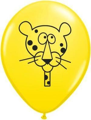 "11"" Printed Special Jungle Animals Balloon 1 Dozen Flat"