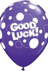 "11"" Printed Tropical Good Luck Dots Balloon 1 Dozen Flat"