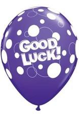 "11"" Printed Tropical Good Luck Dots Balloon 1 Dozen Flat"