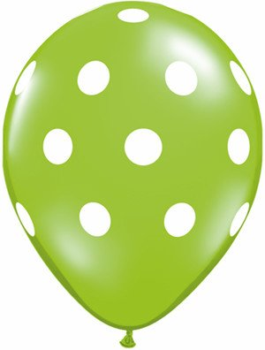 "11"" Printed Tropical Big Polka Dots Balloon 1 Dozen Flat"