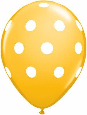 "11"" Printed Special Big Polka Dots Balloon 1 Dozen Flat"
