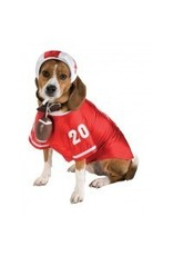 Dog Costume Football Player Large