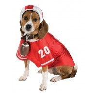 Dog Costume Football Player Large