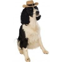 Dog Costume Cowboy Hat Brown M/L