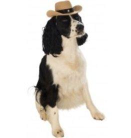 Dog Costume Cowboy Hat Brown S/M