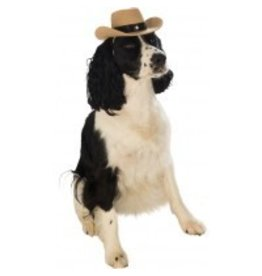 Dog Costume Cowboy Hat Brown S/M
