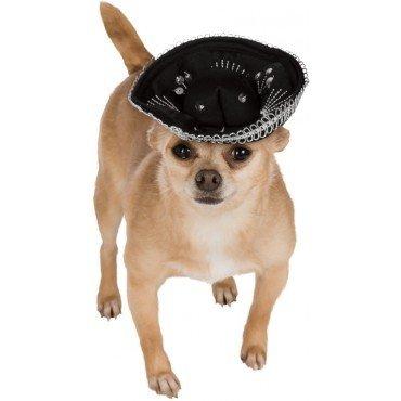 Dog Sombrero Hat Black/Silver S/M