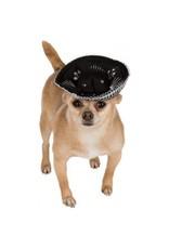 Dog Sombrero Hat Black/Silver M/L