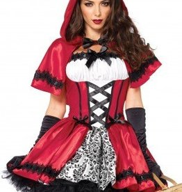 Women's Costume Gothic Red Riding Hood Large