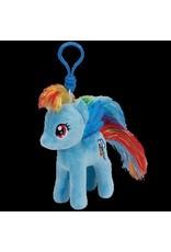 Beanie Boos Rainbow Dash Keychain