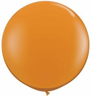 "36"" Balloon Mandarin Orange Flat"