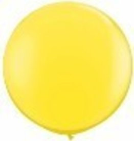 """36"""" Balloon Yellow Flat"""