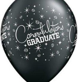 """11"""" Printed Congratulations Grad Balloon 1 Dozen Flat"""