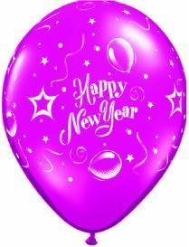 "11"" Printed Jewel New Year Party Balloon 1 Dozen Flat"