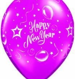 "11"" Printed Jewel New Year Party Balloon 1 Dozen Flat"