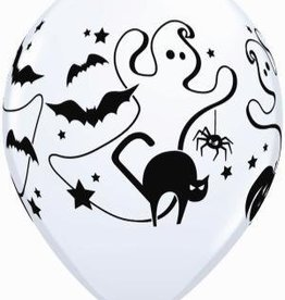 "11"" Printed Assorted Halloween Fun Party Balloon 1 Dozen Flat"