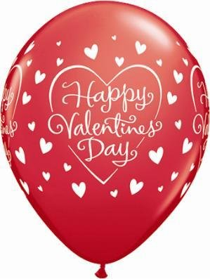 """11"""" Valentine's Dazzling Hearts Balloon Uninflated"""