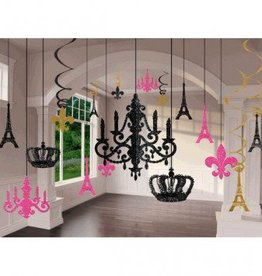 Day in Paris Glitter Chandelier Decoration Kit