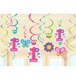 Sweet Birthday Girl Value Pack Foil Swirl Decorations
