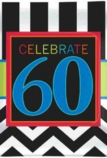 "60th Celebration 7"" Plate 8pc"