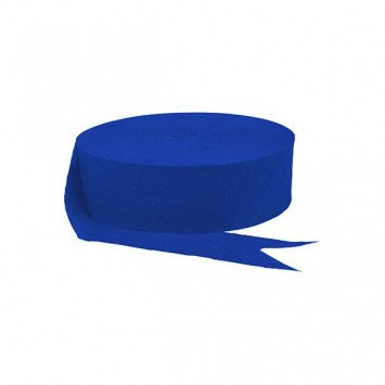 Bright Royal Blue Jumbo Solid Crepe Streamer