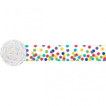Dots Multicolour Crepe Streamer 81'
