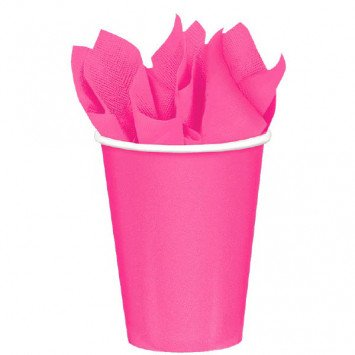 Bright Pink 9oz Paper Cup (8)