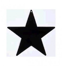 Black Foil Star Cutouts 5""