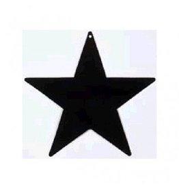 "Black Foil Star Cutouts 5"""