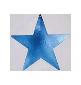"Blue Foil Star Cutouts 5"""