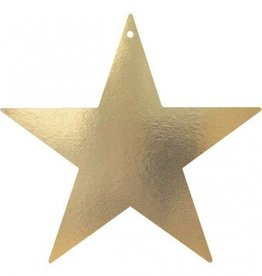 "Gold Foil Star Cutouts 5"""