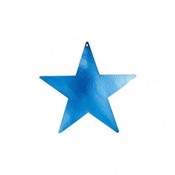 "Blue Foil Star Cutouts 9"""
