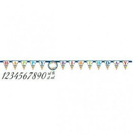 Bright Birthday Jumbo Add-An-Age Letter Banner
