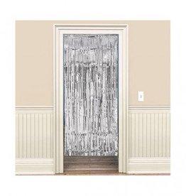 Metallic Door Curtain Silver