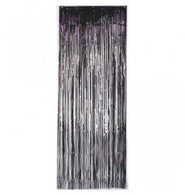 Metallic Door Curtain Black