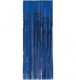Metallic Door Curtain Bright Royal Blue